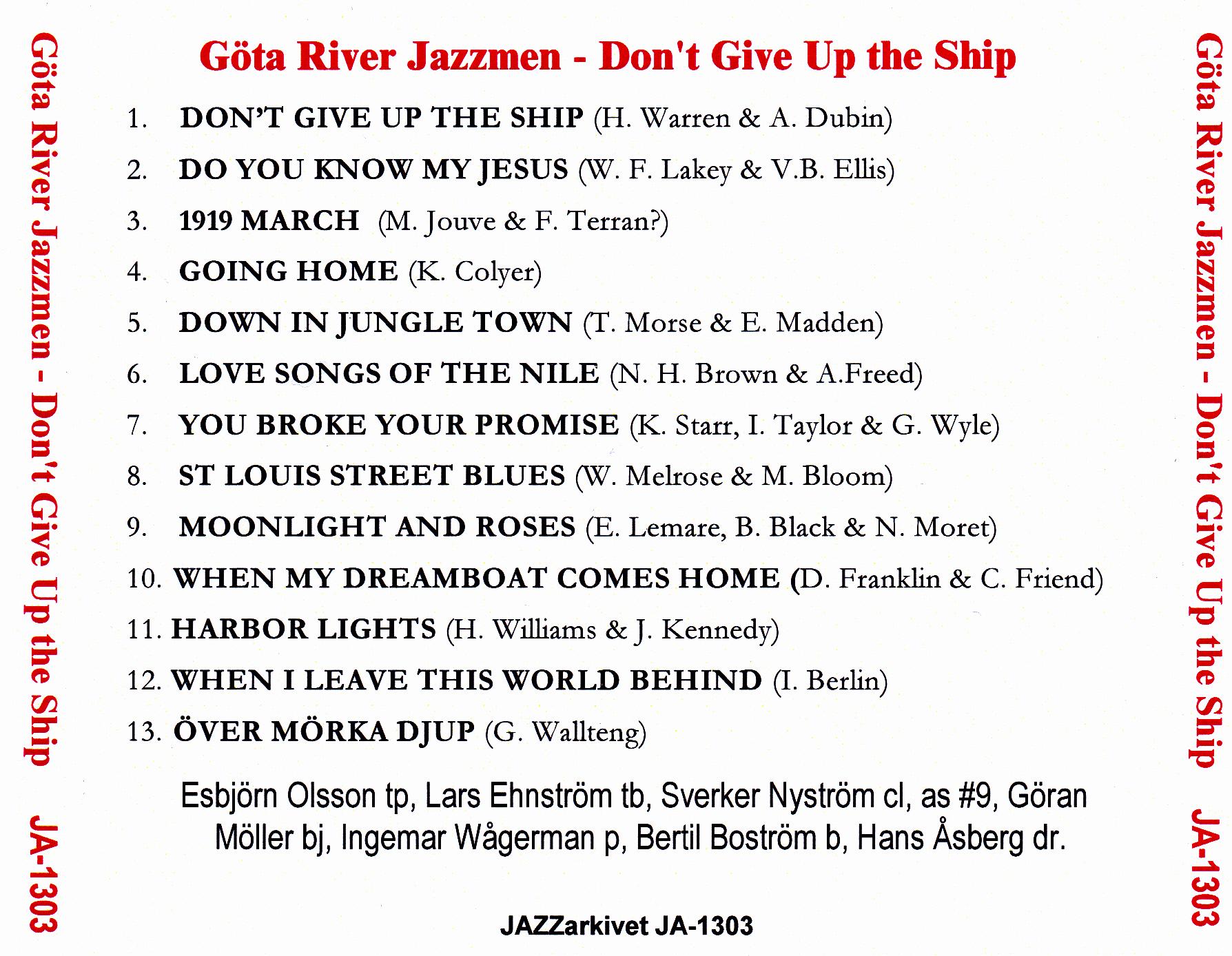 CD JA1303 back